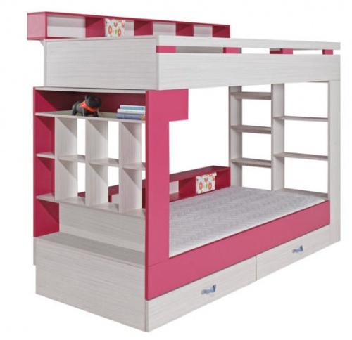 Dětský pokoj KORA - patrová postel KM14