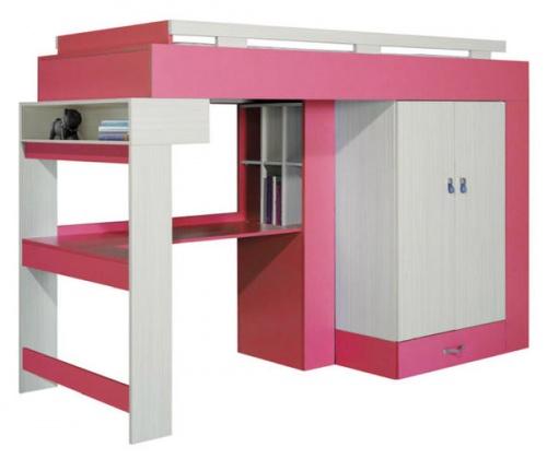 Dětský pokoj KORA - vysoká postel KM 15